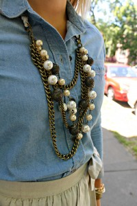Chambray and Pearls