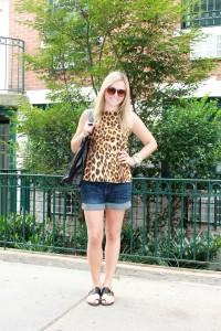 Zara Leopard Peplum