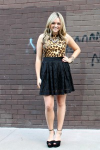 Animal Print Bows & Sequins