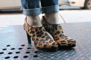 Audrey Brooke Leopard Booties at DSW