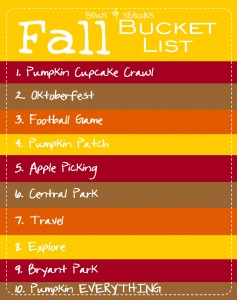 Bows & Sequins Fall Bucket List