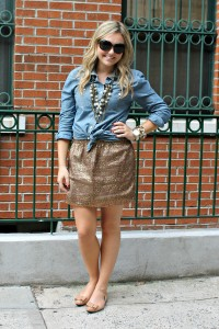Sequin Skirt 1