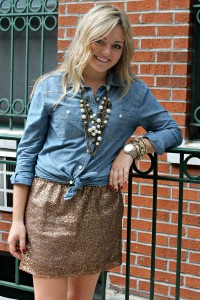 Sequin Skirt 3