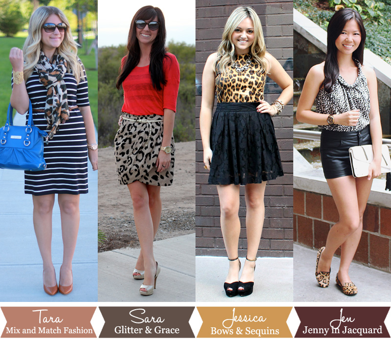 Style Collab - Animal Print — bows   sequins 388a161ca
