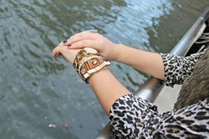 Kristin Hassan Leather Bangle