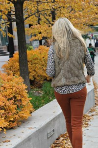 Leopard + Burnt Orange Denim