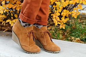 Socks Peeking Out of Boots