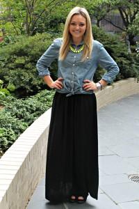 Chambray Shirt Maxi Skirt