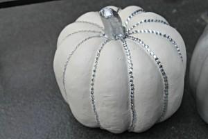 DIY Rhinestone Pumpkin