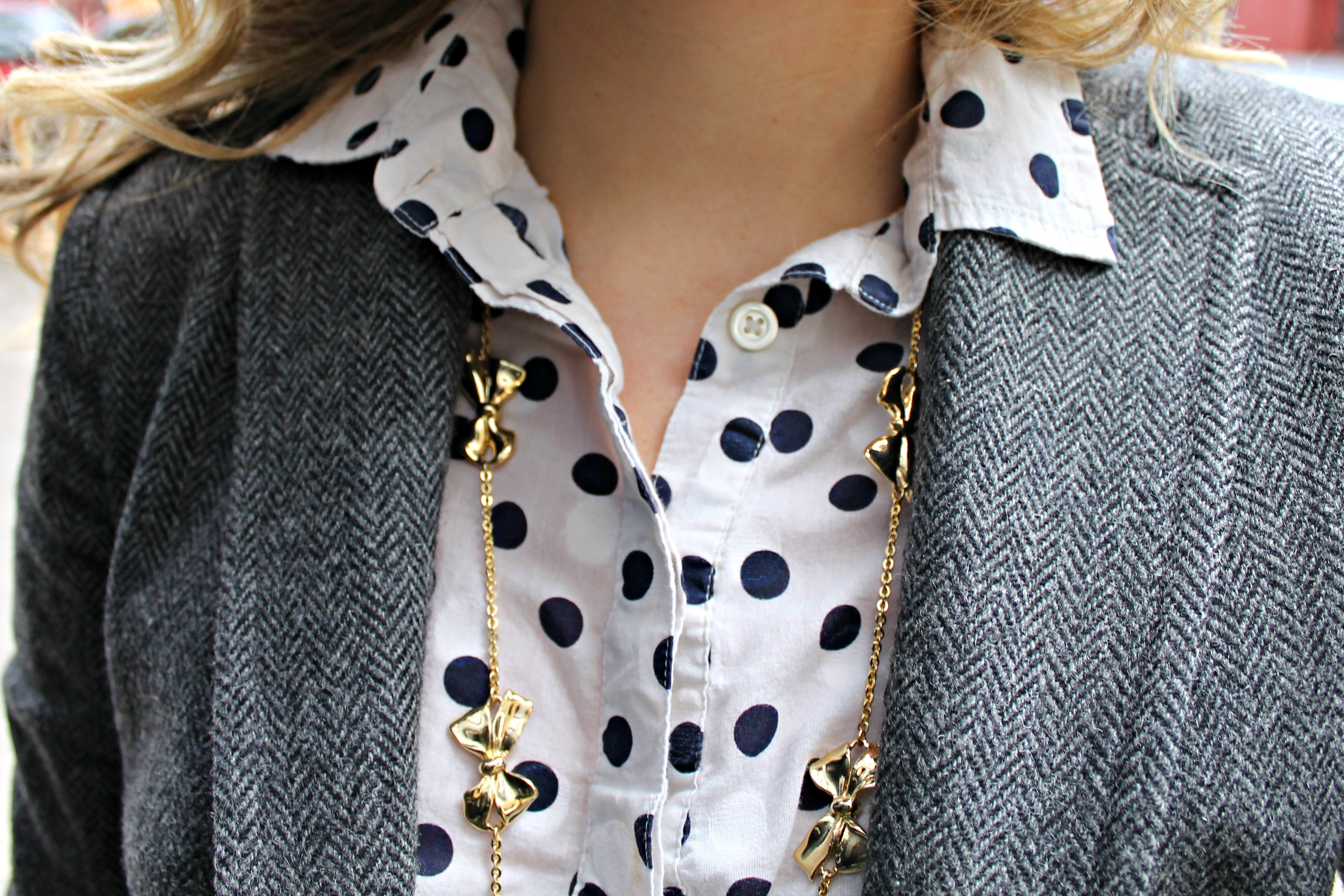 J.Crew Bow Necklace