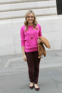 Pink + Burgundy