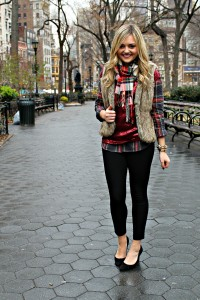 Plaid and Faux Fur