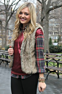 Plaid, Sequins, Fur