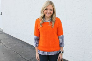 Navy & Orange Outfit