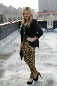 Leopard Silk Pants