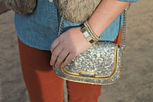 Nine West Sequin Crossbody