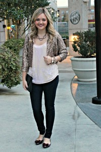 Sequin Jacket and Skinnies