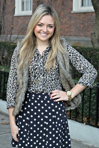 Leopard, Polka Dots, and Faux Fur Vest