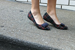 Plaid Bow Flats