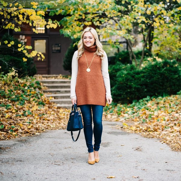 Wearing a turtleneck for turkey day! Check it out onthebloghellip
