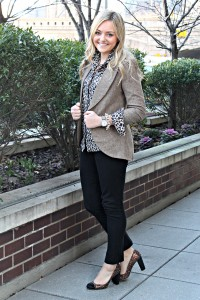 Work Outfit with Leopard and Glitter ...