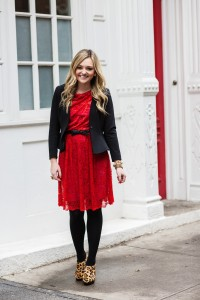 Red Lace Dress to Work