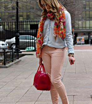 Chambray + Polka Dot Skinnies