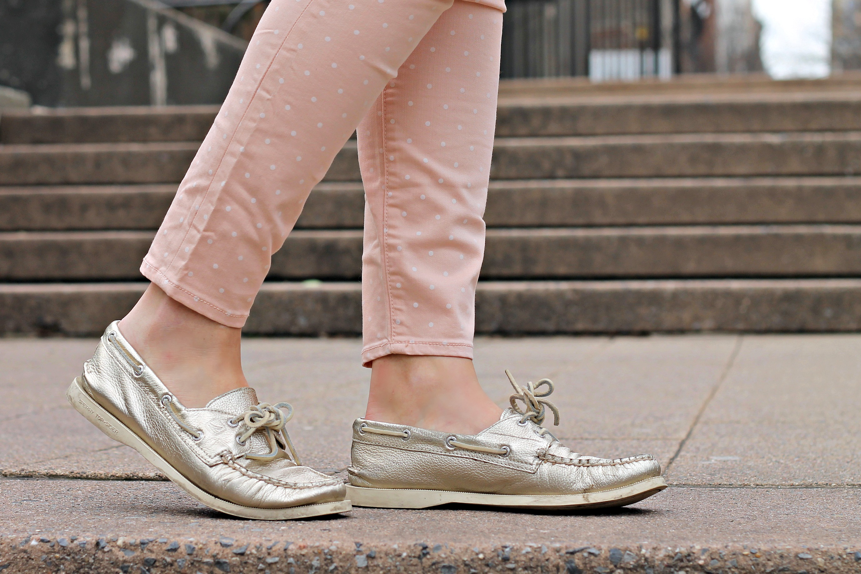 97a252d28fe0 Sperry Top-Side Platinum Metallic Leather Boat Shoe — bows   sequins