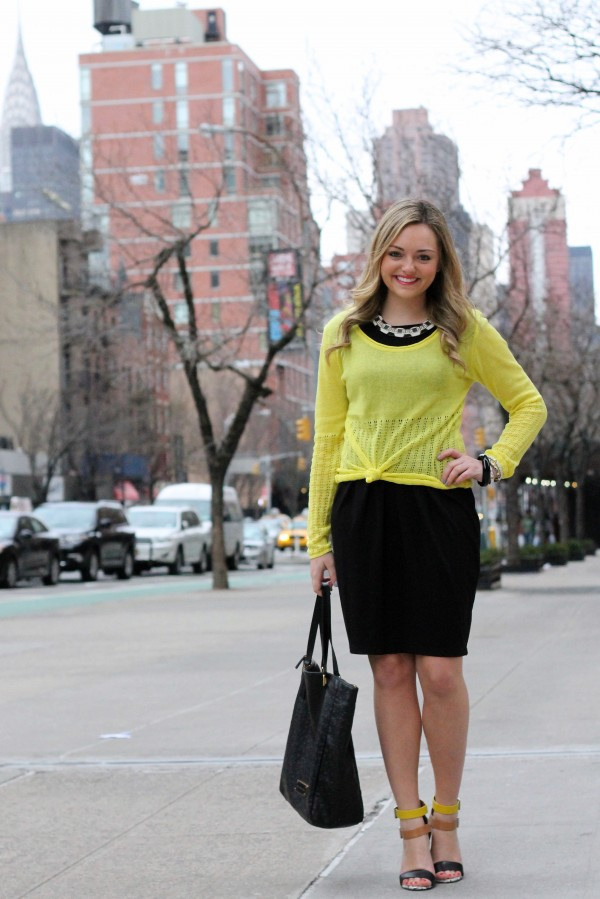 Sweater Over A Dress Bows Sequins