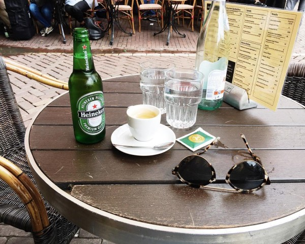 Afternoon essentials Amsterdam style  jetsetjrs amsterdam espresso heineken