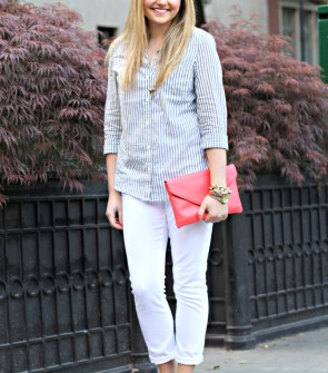 Casual Summer Outfit with White Denim