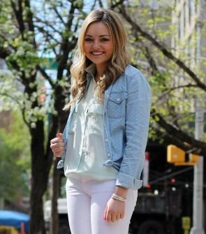 Chambray over Silk Blouse