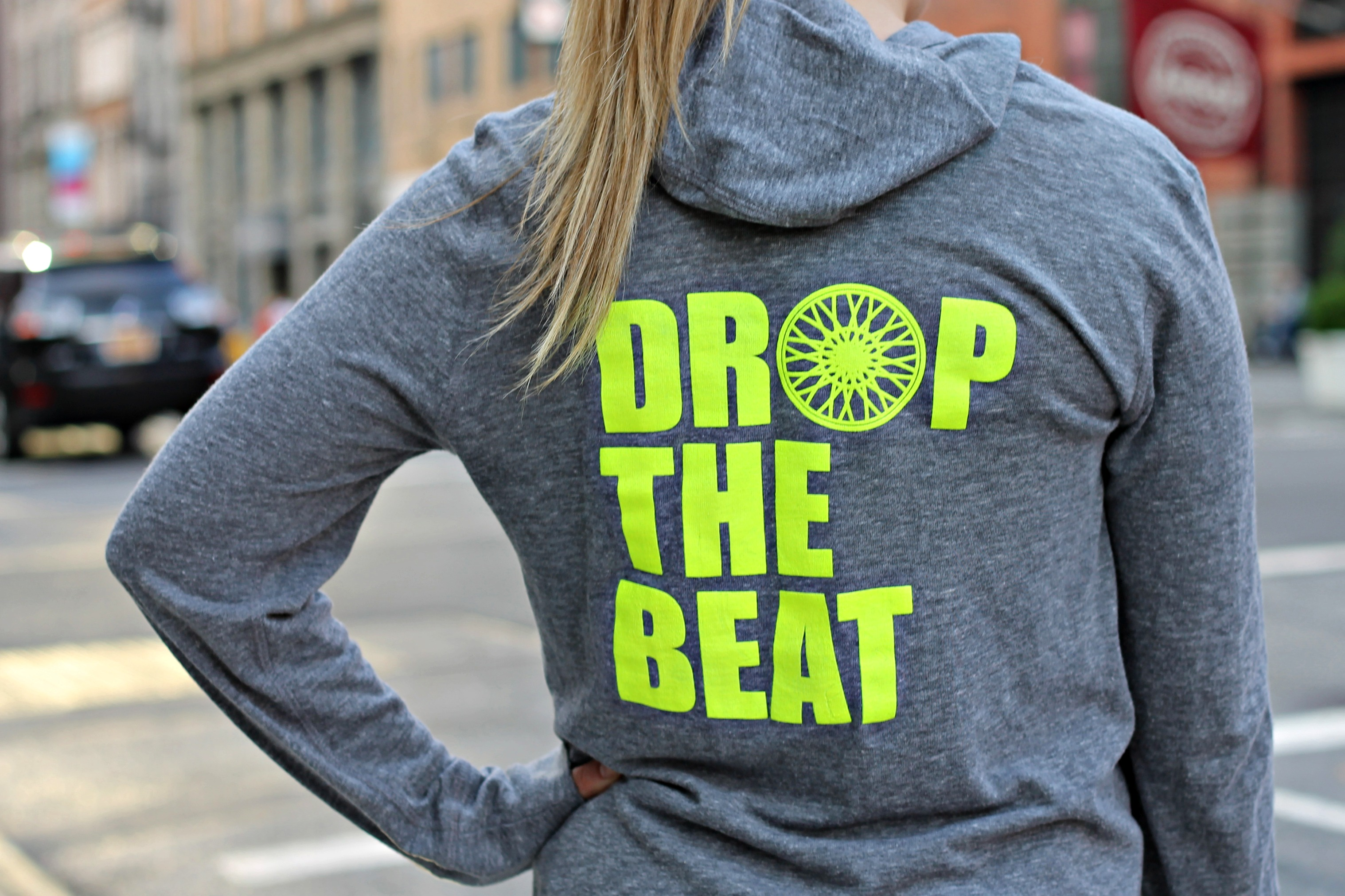 Drop the Beat Soul Cycle Tee — bows & sequins
