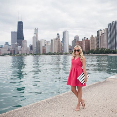 Bright pink bowback dress on the blog today! wwwbowsandsequinscom orhellip