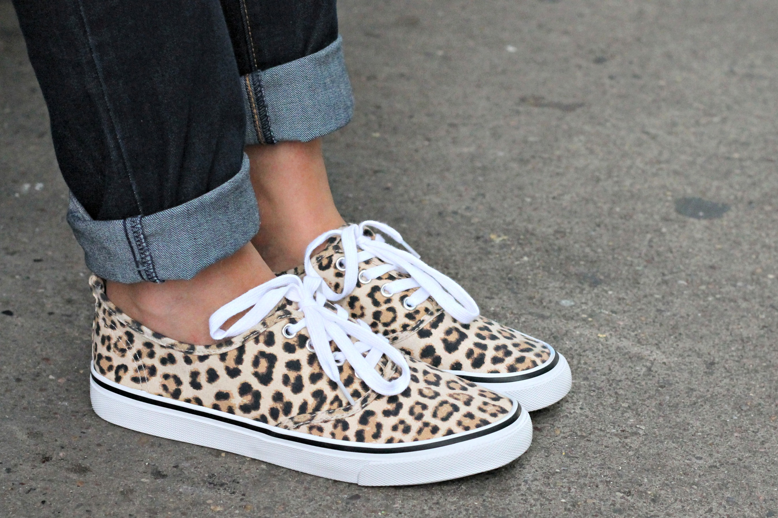 H\u0026M Leopard Sneakers — bows \u0026 sequins