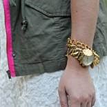 Lace Dress + Army Vest