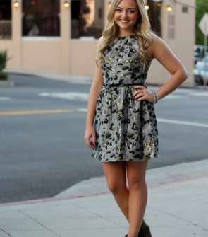 Dress and Booties in LA