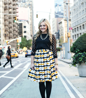 Bow Print Skirt