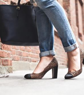 Ann Taylor Glitter Heels