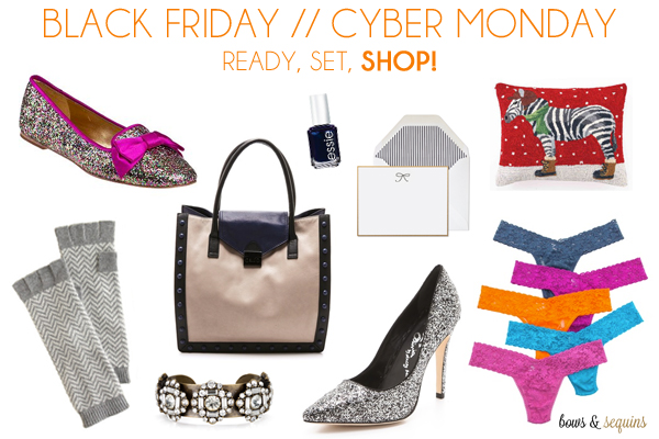 Black Friday Cyber Monday Bows Sequins