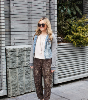 what to wear with sequin pants
