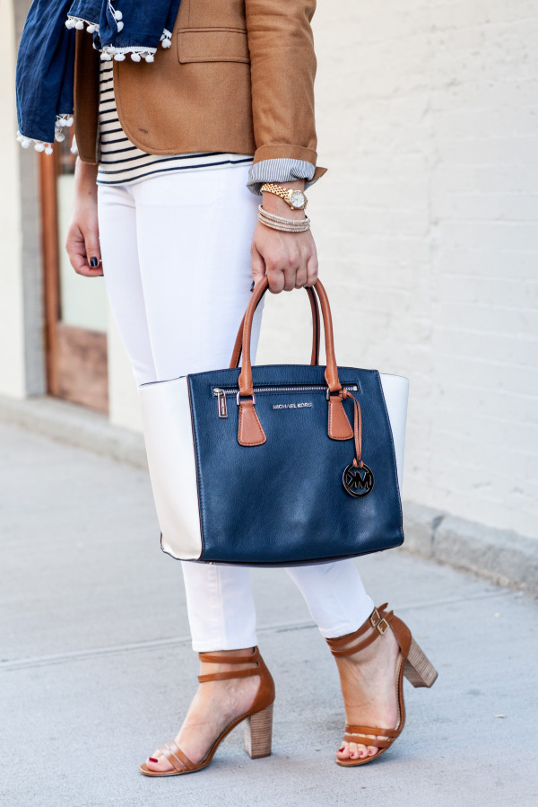 fall outfit white jeans