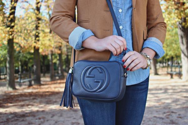 navy blue leather crossbody bag tassel