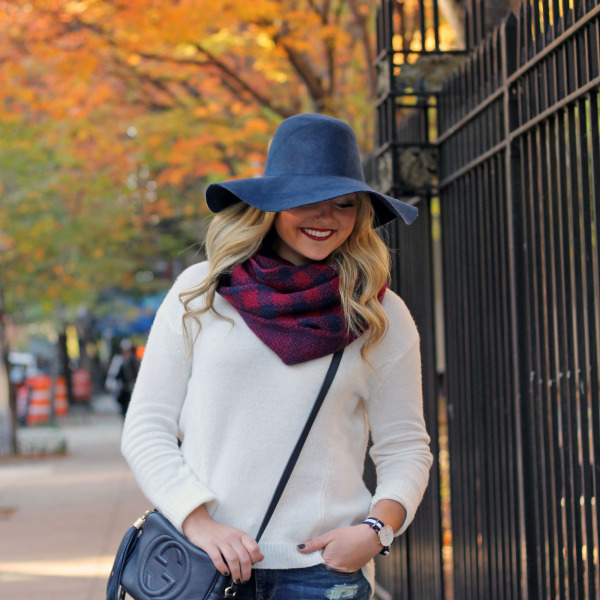 fall hat navy