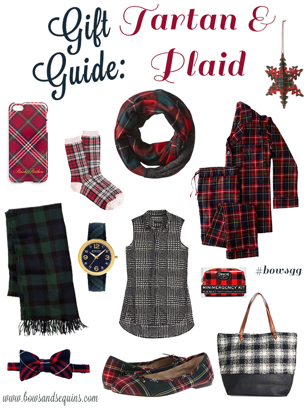 holiday gift guide tartan plaid