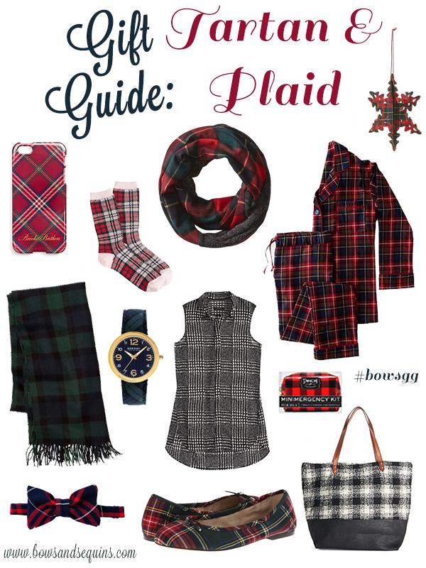 holiday gift guide tartan plaid