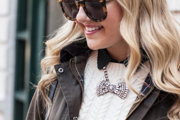 loren hope bow tie necklace
