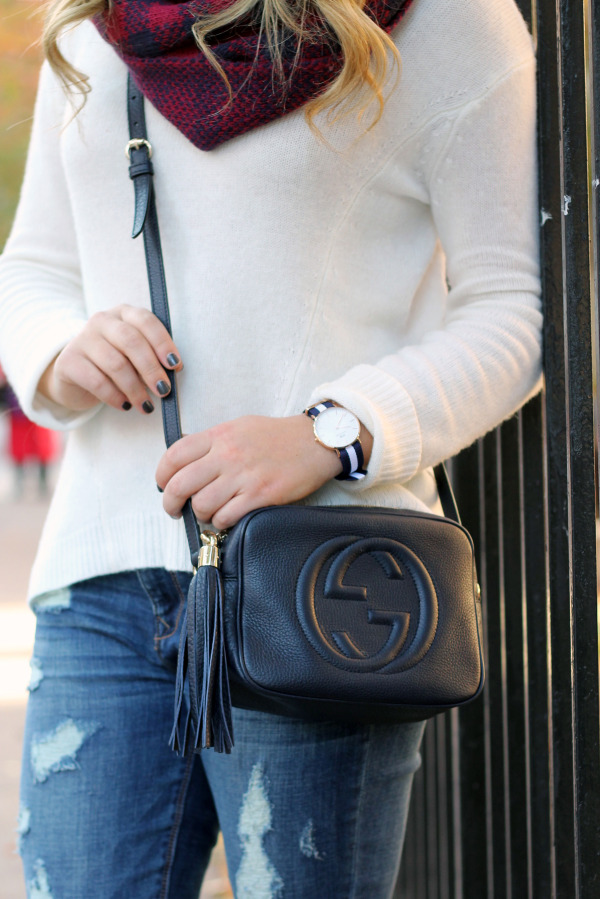 navy gucci crossbody bag