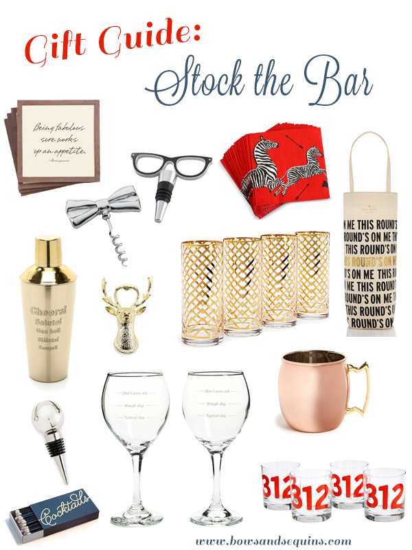 what to put on a bar cart essentials