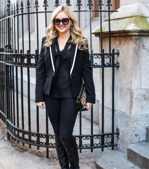 all black holiday outfit